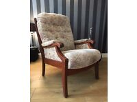 Clintique Armchair - High Back Armchair - Vintage Style Armchair - Good Condition - Reduced Price
