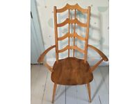 Ercol ladder back dining armchair
