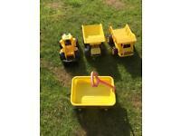 Sandpit/ garden toys digger & dumper