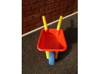 Toy Plastic Wheelbarrow for Toddler and Young Children