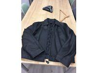 DKNY Designer Men's Leather Jacket Size Large