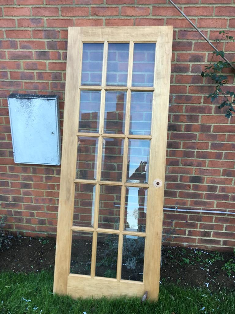 Interior door with 15 Bevelled glass panels  in Banbury, Oxfordshire  Gumtree