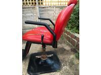 Vintage barbershop chair