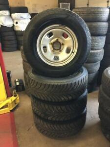 265 70R 17 GOODYEAR ULTRA GRIP WINTER SNOW TIRES & RIMS DODGE RAM 1500 5X139.7 GREAT CONDITION