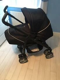 Immaculate Silver cross pram & car seat