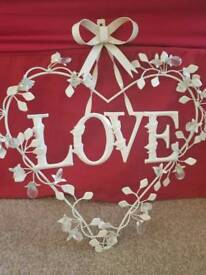 Hanging LOVE heart