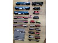 Train sets carriages, engines, trucks all Triang OO gauge.
