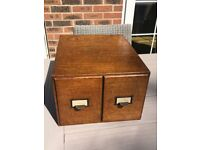 Vintage Office Index Filing Drawers, Advance Index Drawers,