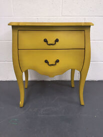 Shabby Chic Oscar 2 Drawer Bedside Yellow New Boxed Ready Built