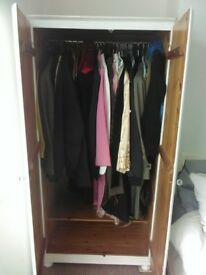 Solid wood single wardrobe