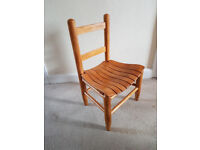 Solid wood infants chair