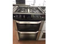 60CM STAINLESS STEEL/BLACK BELLING GAS COOKER
