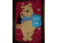 """Winnie the Pooh Rug + Scully Mask + """"Fur Real"""" Dog"""