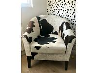 Cow hide/ leather armchair