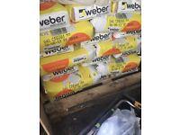 40+ bags of cream Webber monocouche top coat