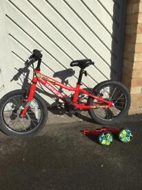 """Kids alloy frame 16"""" bike"""