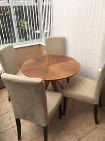 John Lewis Radar round dining table and 4 chairs
