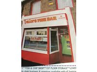 Freehold fish and chip shop, three story property been trading since 1971