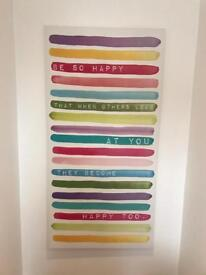 Large Canvass Print - Multicoloured