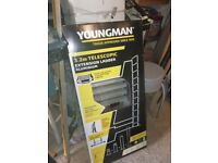 YOUNGMAN TELESCOPIC LADDER AND STAND OFF *** NEW ***