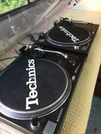 Pair of Technics SL210 MK2 turntables