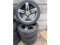 """Bmw 1 Series 17"""" Star Spoke Alloy Wheels Tyres F20 F21 F22 225/45/17 Can Post Part Exchange Welcome"""