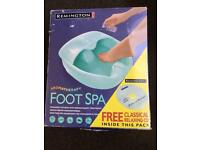 Remington aromatherapy foot spa. Model: F7026. 2 settings.