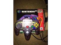 Nintendo 64 Clear Purple Controller