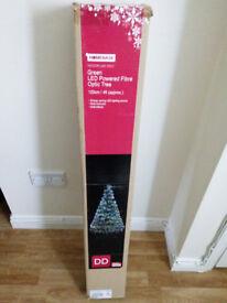 Green LED Powered Fibre Optic Christmas Tree 120 cm/4 ft