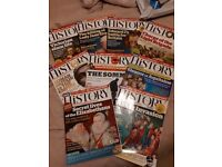 BBC History magazines. Bundle of 9. Read but good condition.