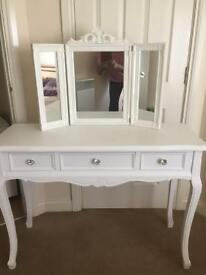 Fabulous Three Drawer Dressing Table Brand New