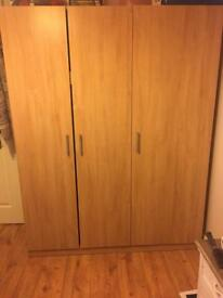 Ikea dombas wardrobe with shelves vgc