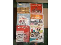 """""""MOTOR CYCLE"""" show guide and show number magazines £10"""
