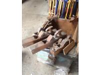 Antique wooden carpentry planes