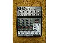 Behringer Xenyx 802 mixing desk/mixer