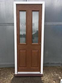 New Upvc Rich Oak back,Garage Composite Door