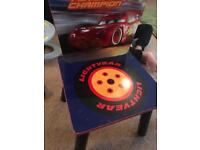Disney Cars table and chairs