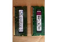 2 x 1gb ddr3 ram sticks