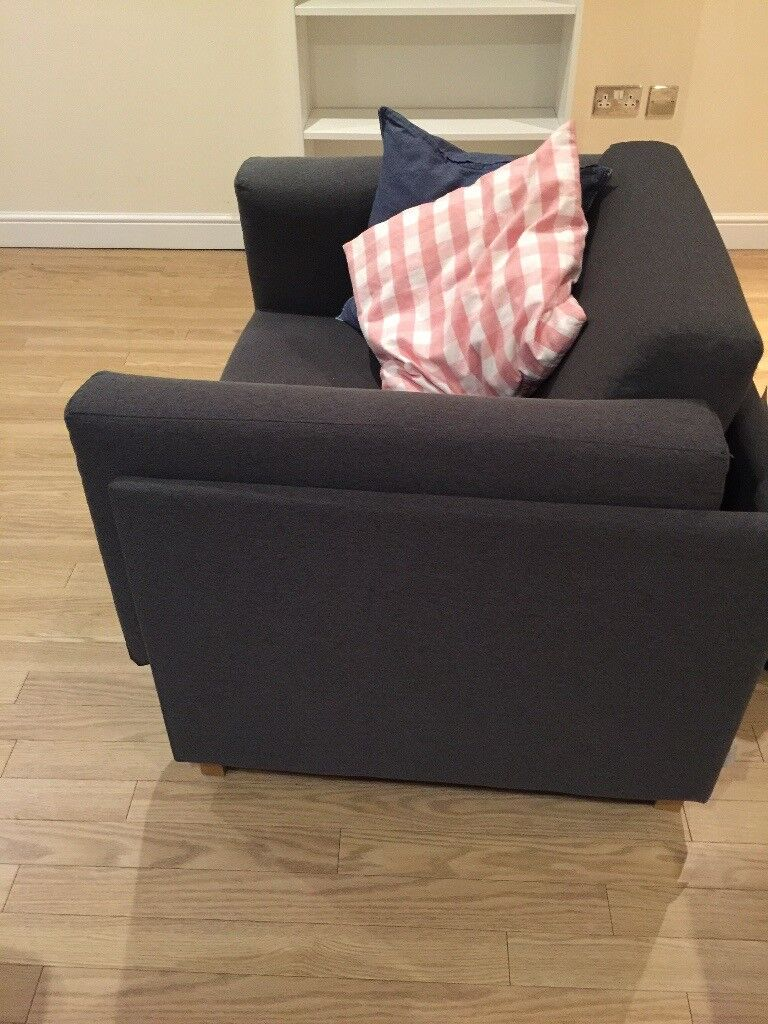 Armchair Sofa Bed Charcoal