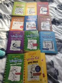 Diary of a wimpy kid selection of books