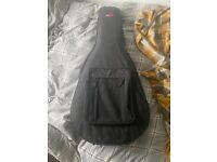 Harmonica Semi-Acoustic Guitar & alligator Guitar case