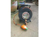 B&Q 30 METRE ELECTRIC CABLE REEL WITH WEATHER SOCKET