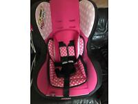 Brand new Minnie Mouse car seat