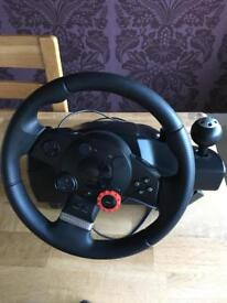 Driving force GT steering wheel and pedals for sale
