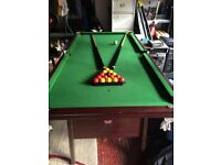 6' Folding snooker table