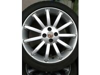MGF TF alloys with tyres
