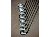 Callaway X Forged Golf Irons Left Hand.3 to PW.fitted with Project X shafts 5.5.