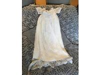 Shetland Lace Christening gown and shawl