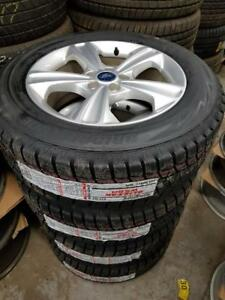 brand new 225 60 17 Blizzak WS80 on OEM Ford Escape alloy rims 5 x 108 / TPMS -- $1400