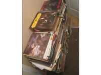 """large collection of vinyl records 7"""" 12"""" and lps albums"""